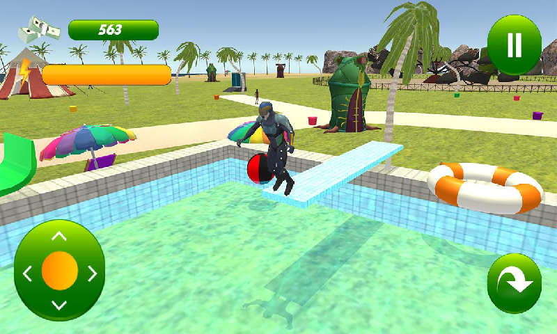 超级英雄水滑上坡截图