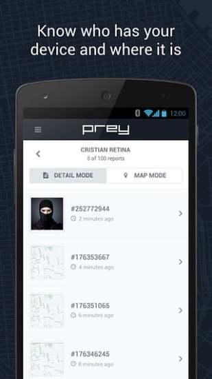 手机锁定Prey截图