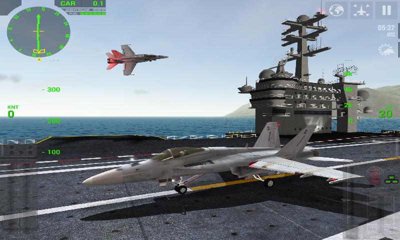 F18舰载机模拟起降截图