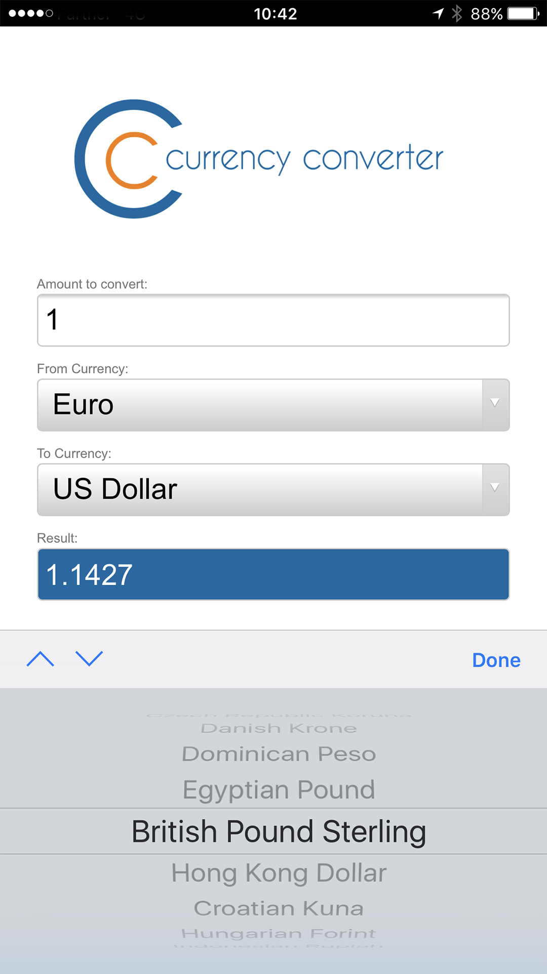 CC货币汇率兑换计算器截图