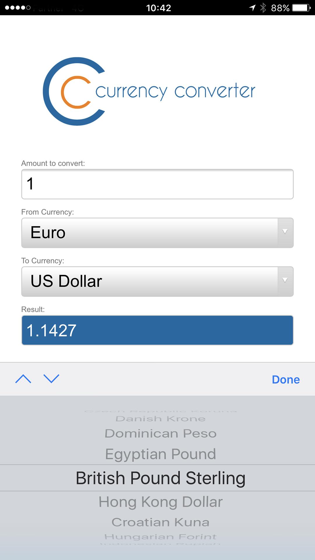 CC货币汇率兑换计算器