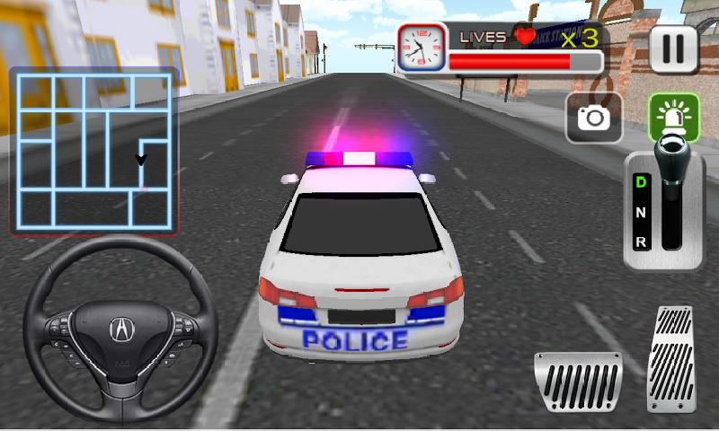 疯狂的警车司机3D截图