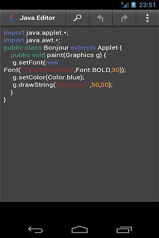 Java编辑器截图