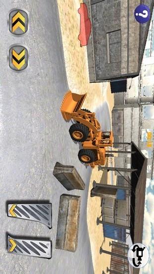 城市挖掘机停车截图
