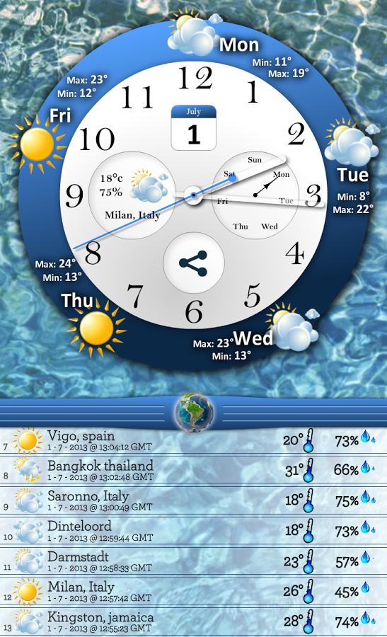 时钟和天气预报 (Cloky)截图