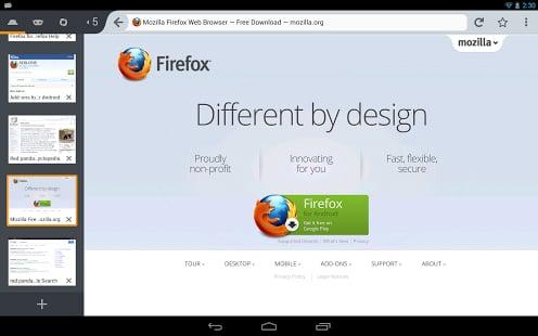 Firefox Beta截图