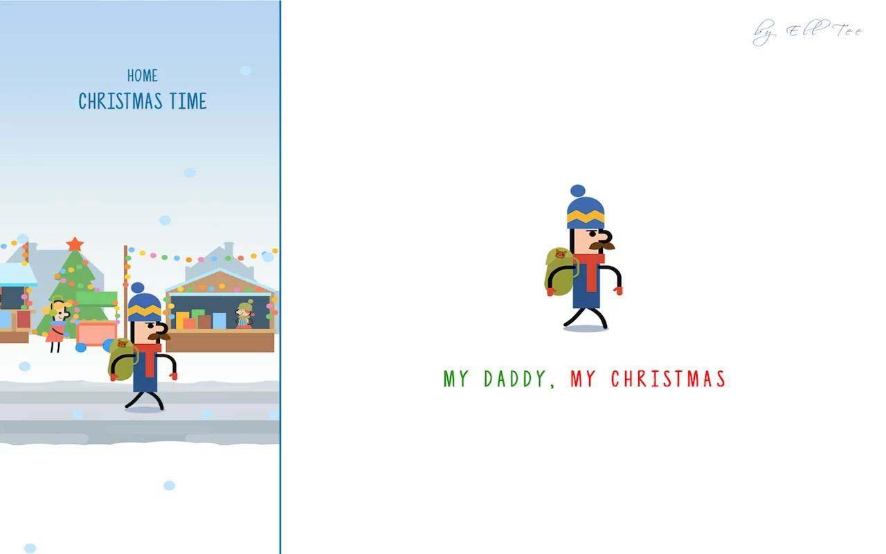 我的爸爸,我的圣诞节截图