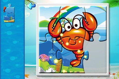 宝宝识字之海洋动物拼图游戏截图