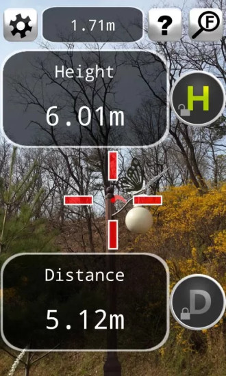 距离测量仪截图