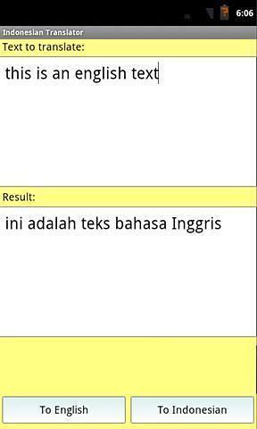 印尼英语翻译截图