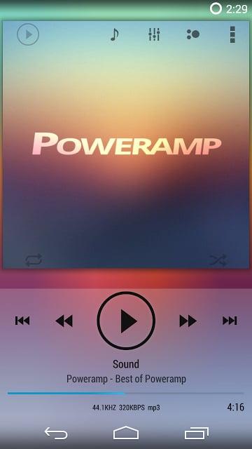 播放控制 Poweramp ICS/JB Light Skin截图