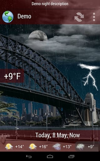 天气小部件截图