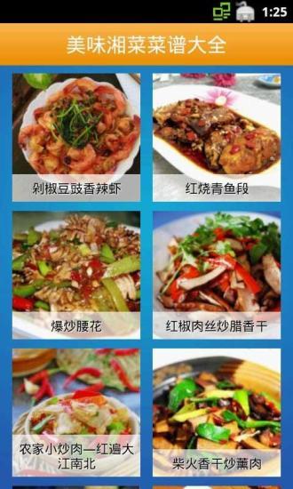 美味湘菜菜谱大全截图