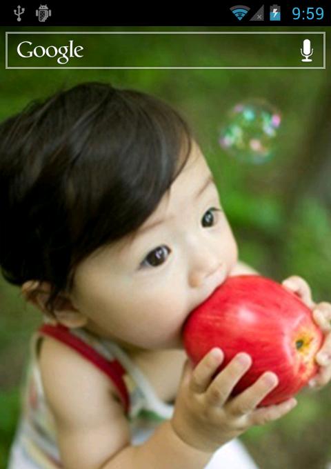 小可爱啃苹果-动态壁纸锁屏图片