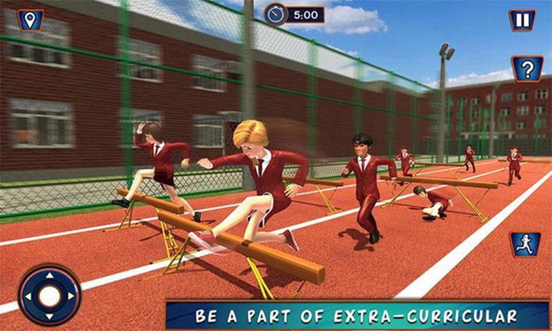 高中女孩模拟器:虚拟生活游戏3D截图