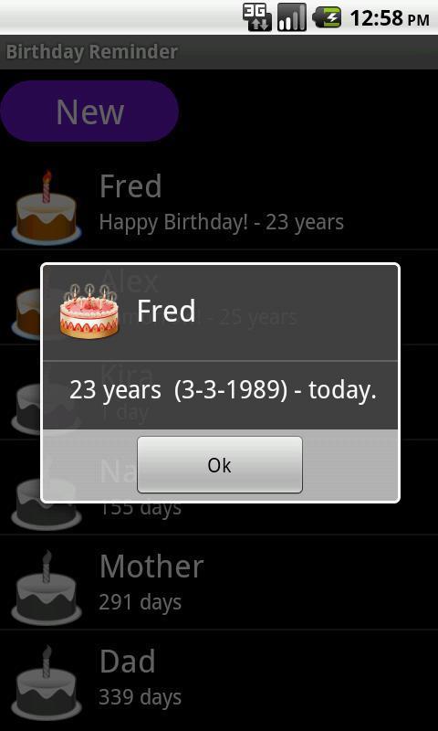 Birthday Reminder截图