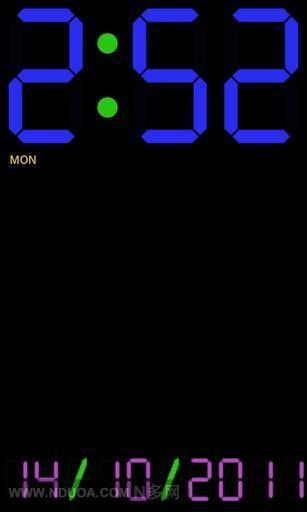 LED 时钟截图
