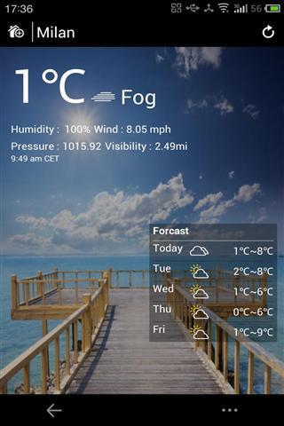 天气警觉截图