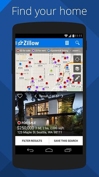 Zillow房地产截图