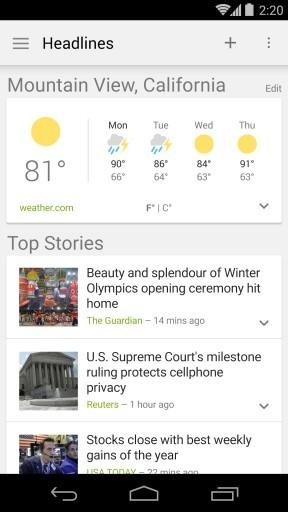 新闻和天气截图