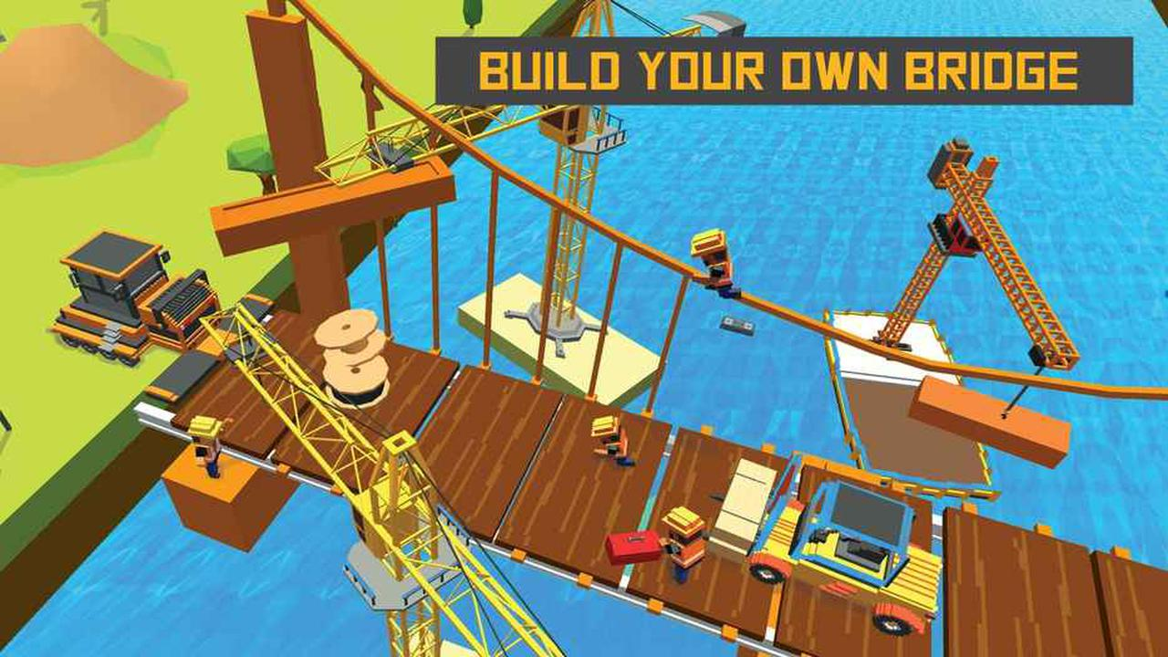 河铁路桥梁建设火车游戏2017截图