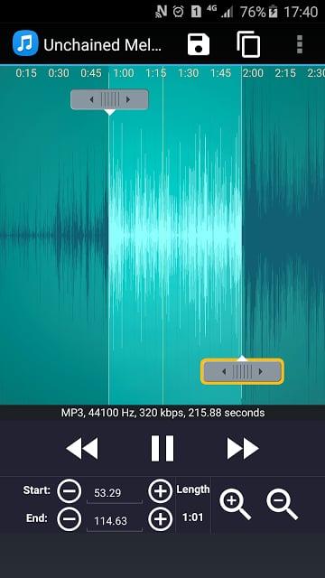 MP3剪切和铃声剪辑截图