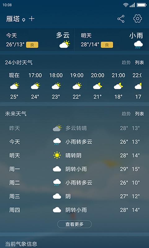 无忧天气截图