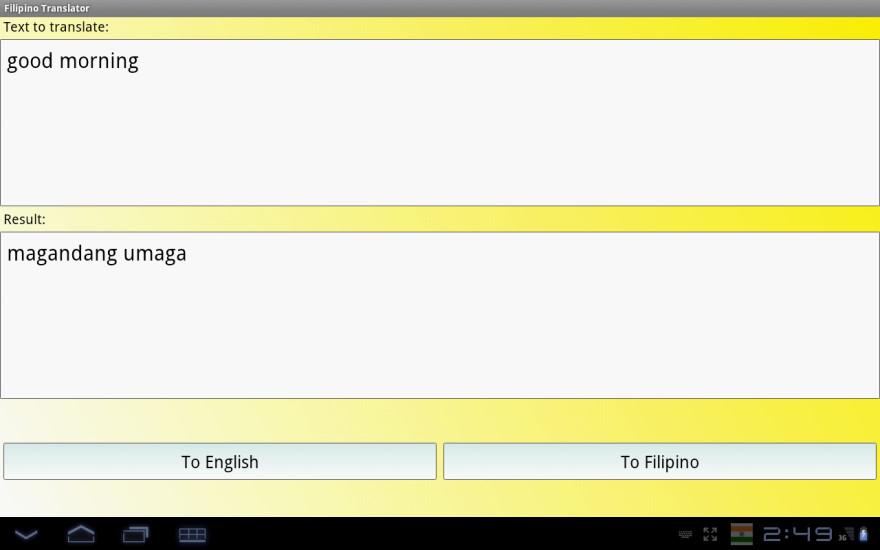 菲律宾翻译词典截图
