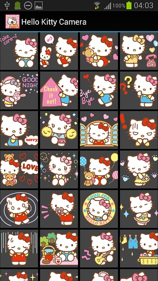 Hello Kitty的相机截图