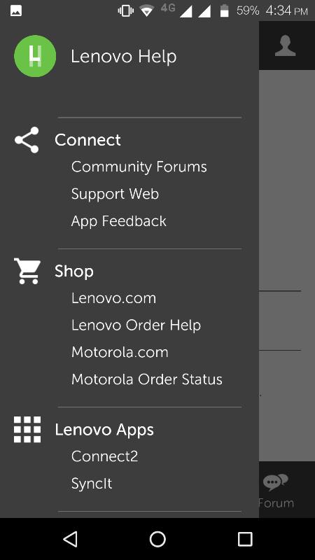 Lenovo Help截图