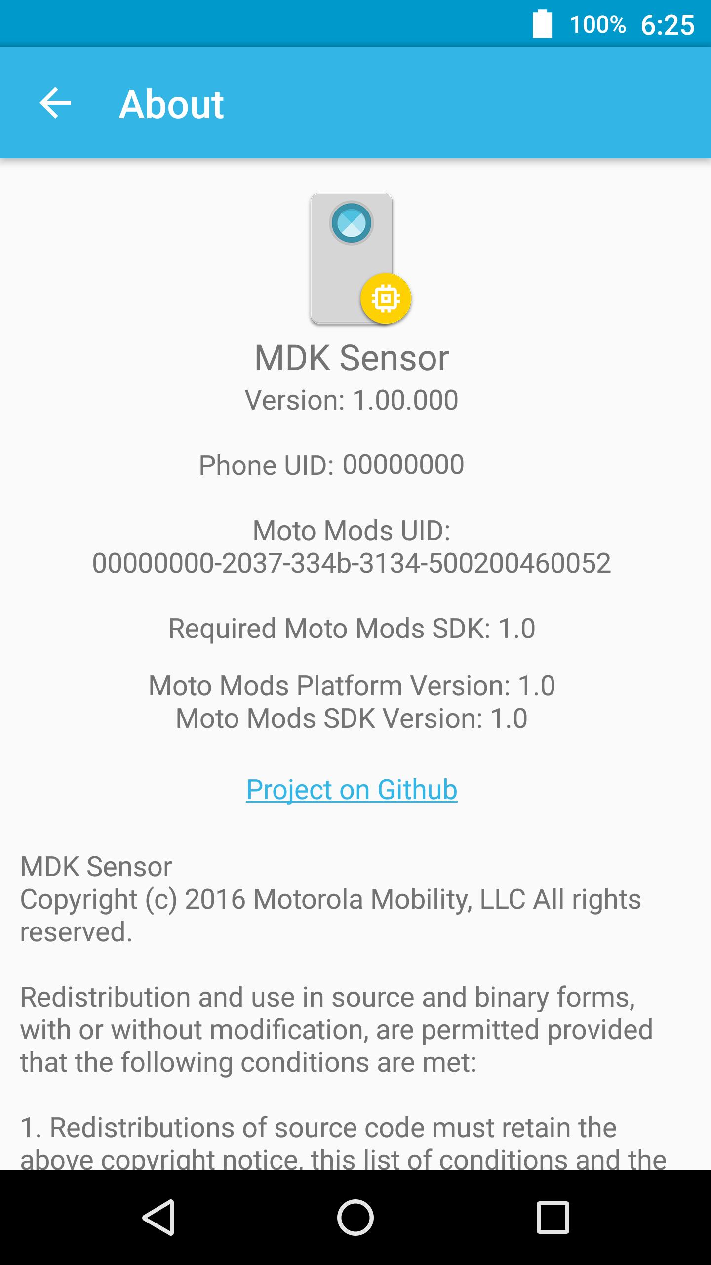 MDK Sensor示例