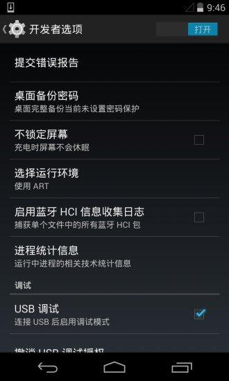 开发者选项