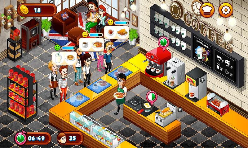 咖啡厅大作战:烹饪餐厅截图