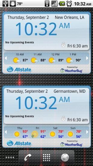 天气时钟部件 WeatherBug Time Temp截图