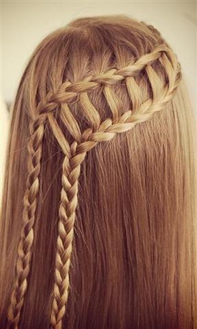 辫子发型教程图片