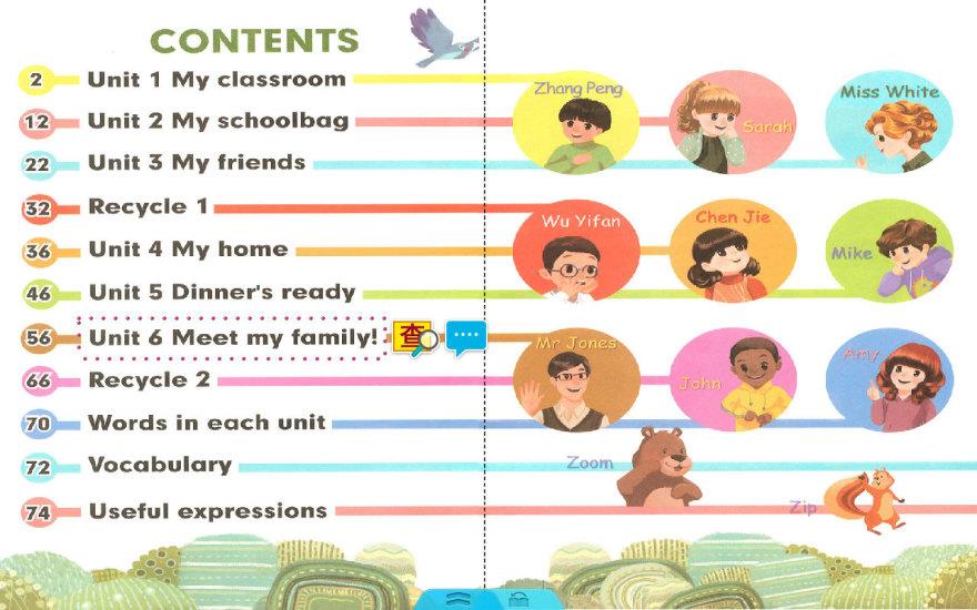 人教PEP英语四年级上册