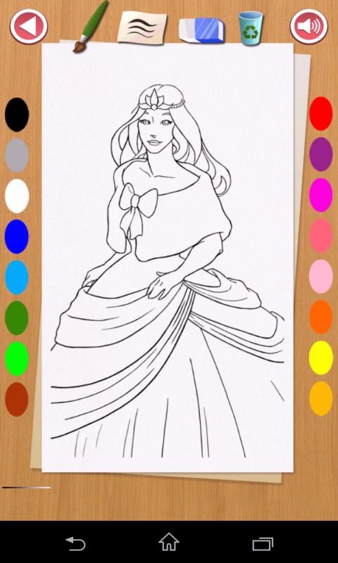 欢迎来到真正的公主绘画的城堡,充满女孩着色页!图片