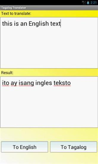 他加禄语翻译 Tagalog Translator