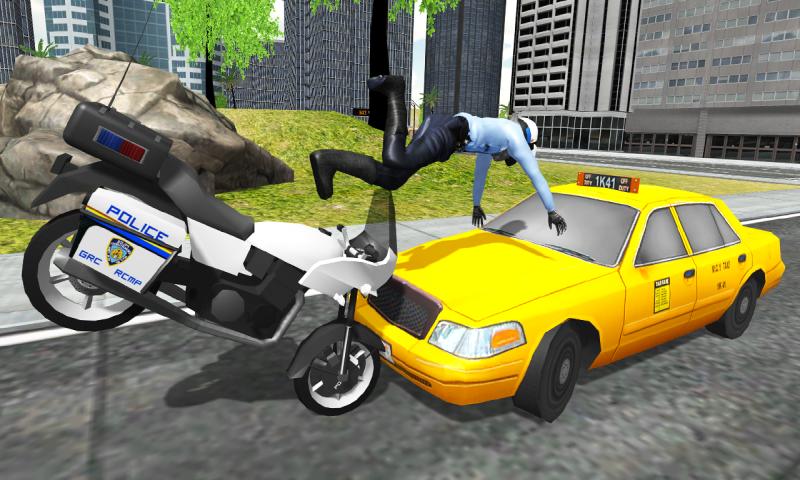摩托车执勤截图