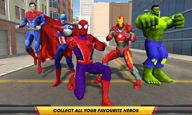 超级英雄对黑手党截图