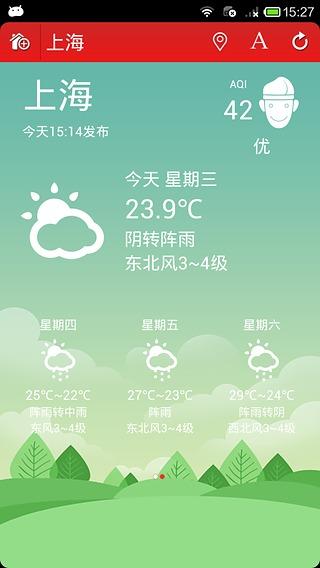 每日天气截图