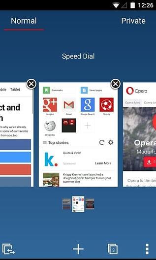 Opera Mini beta截图
