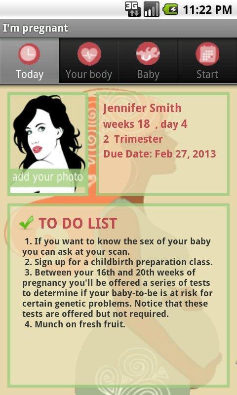 我懷孕/懷孕的應用