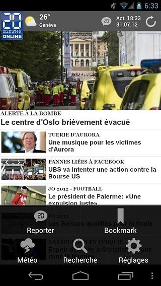 20 minutes mobile (français)