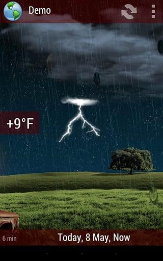 天气小部件