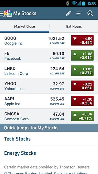 CNBC Real-Time for Phones截图