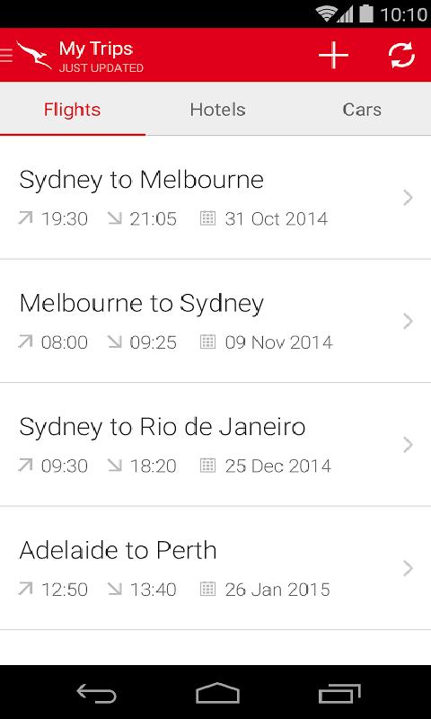澳洲航空截图