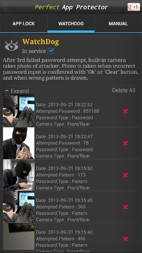 密码锁定保护截图