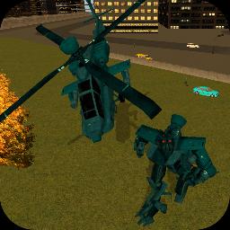 直升机机器人战斗
