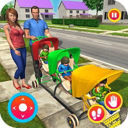 虚拟家庭主妇新妈妈宝宝三胞胎躁狂症
